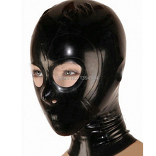 sexy latex hoods mask open  Monochrome common hood black free shipping fast delivery