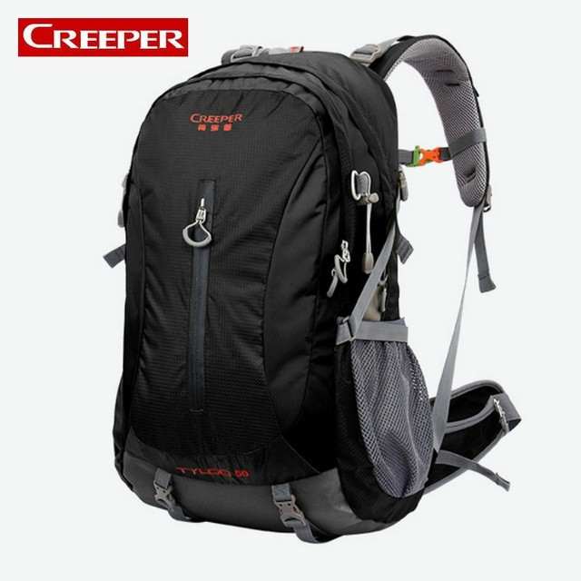 fe98be3c19 High Quality Unisex 50L Capacity Female Male Trekking Travel Backpack Top  Brand Sports Bag School Bags Camping Climbing Rucksack