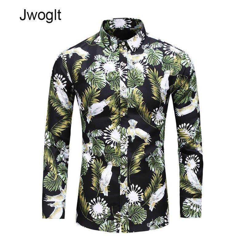 45KG-120KG Big Size Men's Shirt Tropical Long Sleeve Aloha Button Hawaiian Shirts 5xl 6xl 7xl