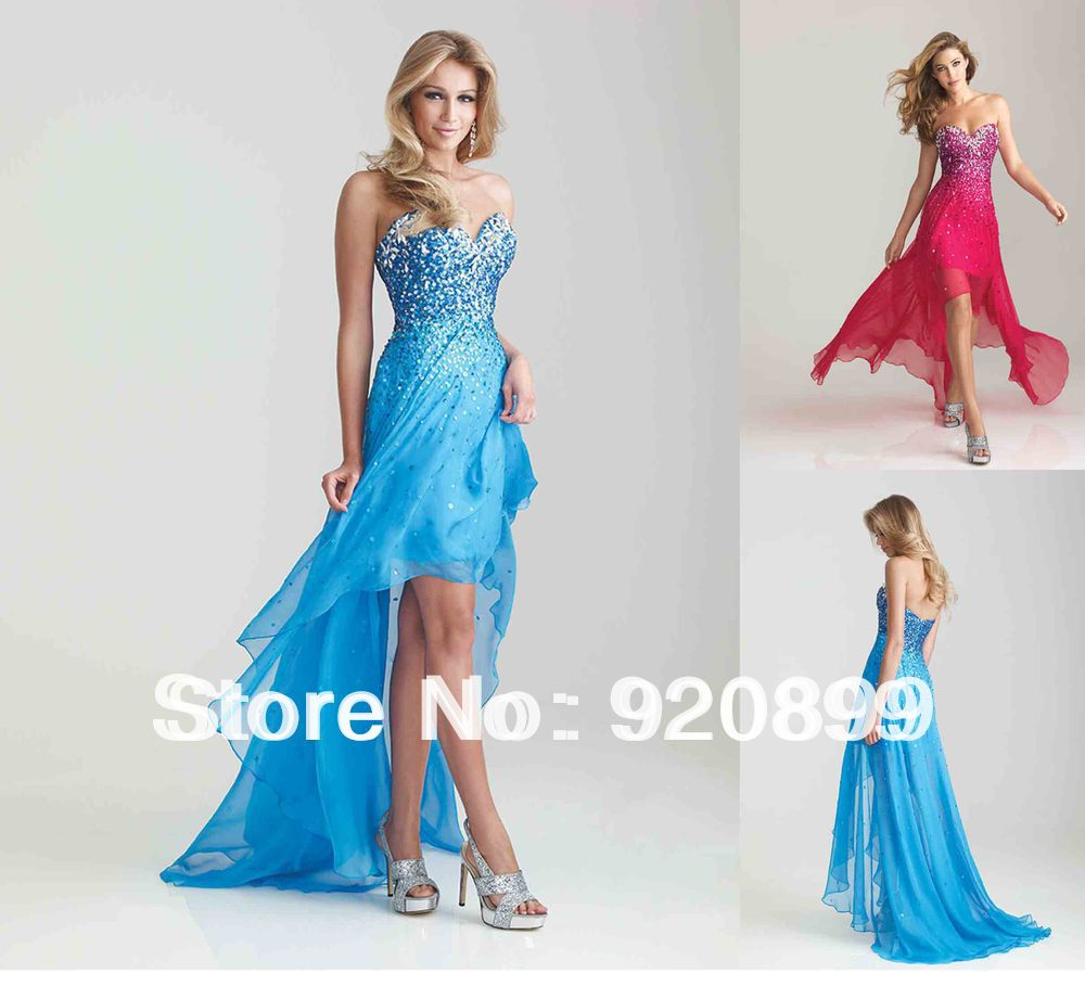 Aliexpress.com : Buy Free Shipping Sweetheart Beaded Blue Red ...