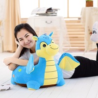 new arrival cartoon blue dinosaur plush toy, about 54x45cm seat plush tatami sofa floor seat w5283