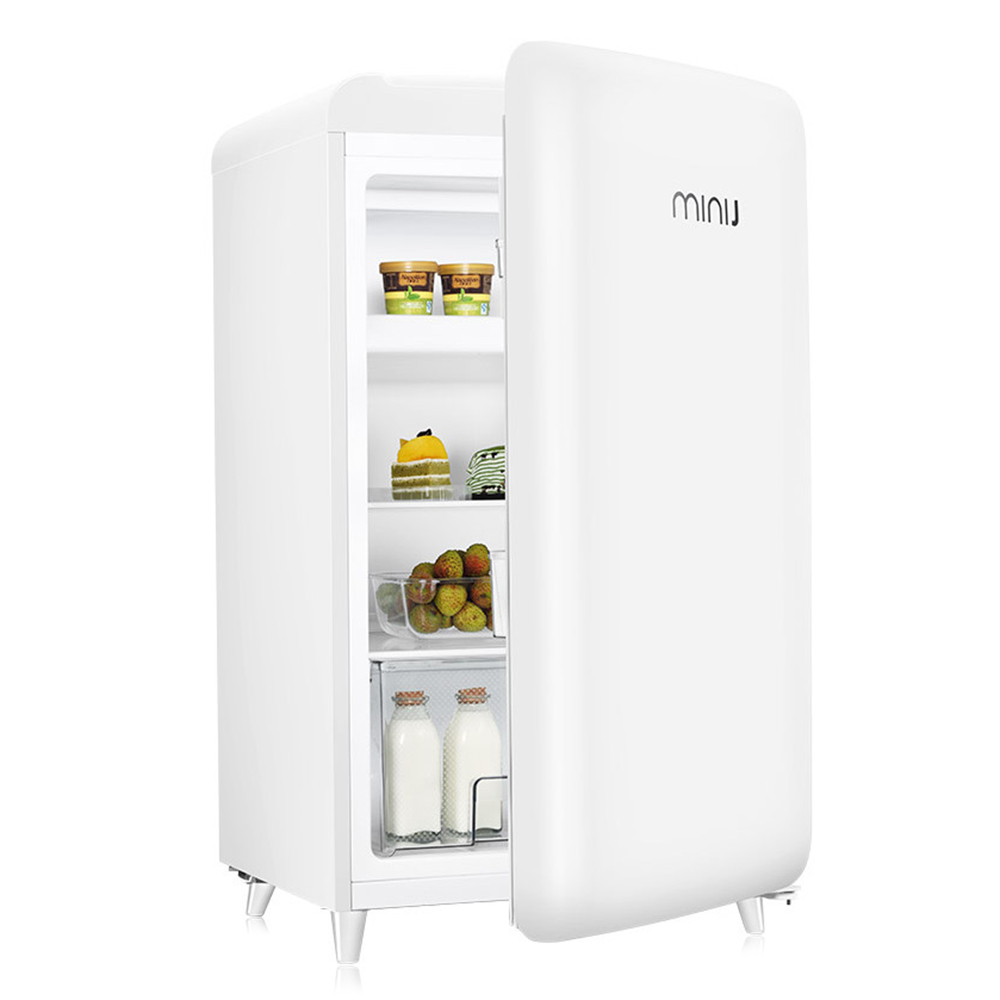BC - M121RW 121L Mini Retro Refrigerator Freezer Fresh Food Storage Uni-body Fridge Icemaker Z20