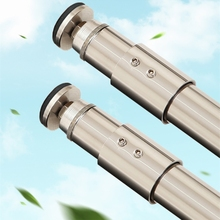 Promo offer 304 Stainless Steel Bathroom Shower Curtain Poles Telescopic Rod Super Heavy Load-bearing Clothesline Pole