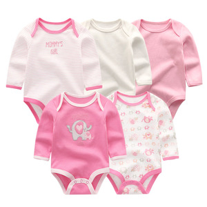 Image 4 - 5 PCS/lot newbron winter long sleeve baby rompers set baby jumpsuit girls baby girl romper roupa de bebe baby boy clothes