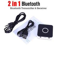 2 in 1 Wireless Bluetooth Transmitter Receiver Adapter Bluetooth 4.2 Audio Adapter with USB Charging Cable + 3.5mm Audio Cable(China)