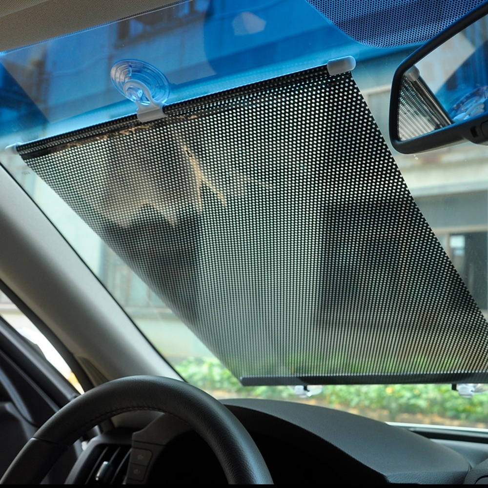 Car Sun Shades For Windshield 40cm*60cm Auto Retractable Side Window Solar Protection Sun Shade Curtain Front Windscreen 29