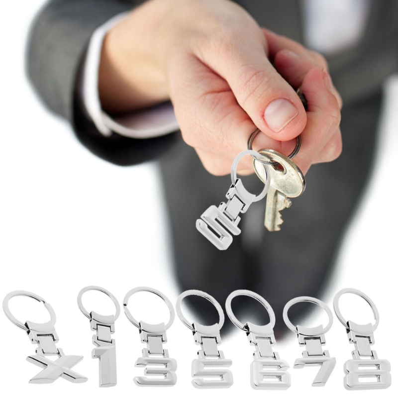Key Ring Metal Keyring Keychain Car Styling for BMW 1 3 8 X X1 X3 X5 Key Chain