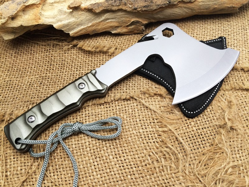 Buy Hot Sale!!Aluminum Handle CK F08 Camping Outdoor Hunting Axe 5Cr15Mov Blade Survival Tomahawk Multifunction EDC Field Tool cheap