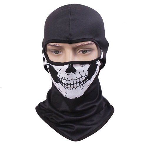 30pcs/lot Quality Skeleton Mask Balaclava One Hole for Men Black Full Face Masks Mens Camping Hunting Skull Balaclavas Beanies chief sw2104 skull style full face mask for war game cs black