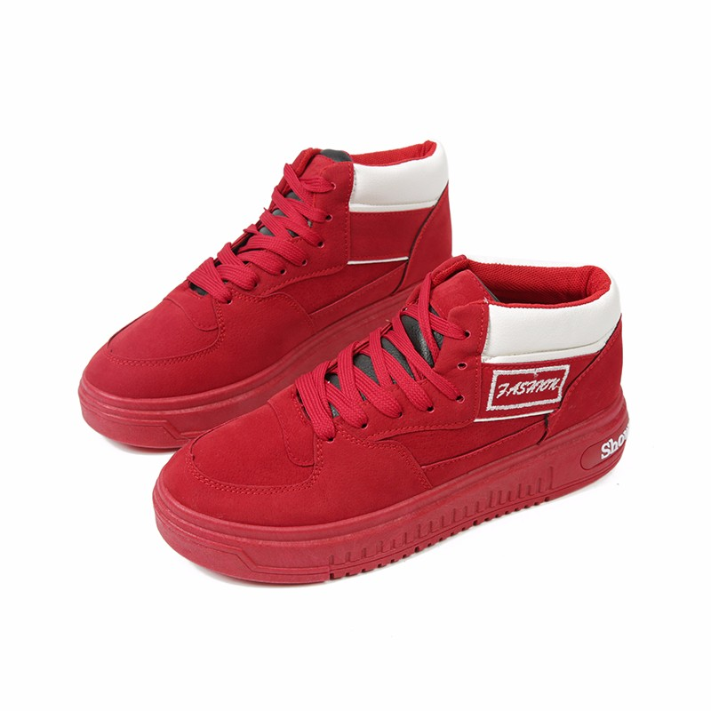 Casual Women Shoes Lace Up Breathable Platform High Top Casual Shoes KUYUPP 2016 Spring Autumn Fashion Lace Up Skate Shoes YD158 (11)