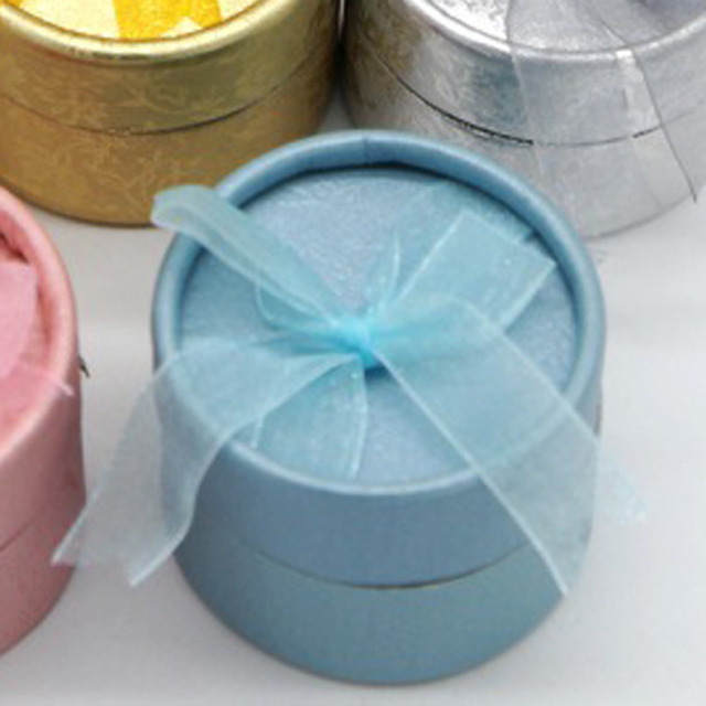 Fashion Mini Jewelry Storage Paper Box Round Shape Cute Small Gift