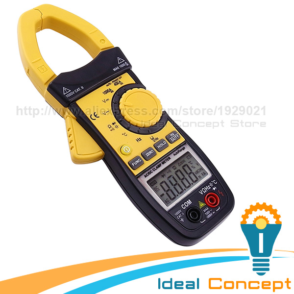 AC/DC Clamp Multimeter Continuity Resistance Capacitance Frequency Temperature мультиметр multimeter 5818 ac dc w