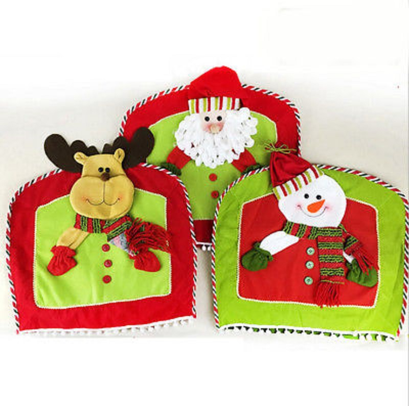 New Christmas Snowman Chair Cover Winter Holiday Party Kitchen Dining DecorationChina