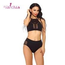 Vali Belo Ladies' Sexy Set Sleeveless Polka Dot Lingerie Set and Sexy Pack Hip Panties