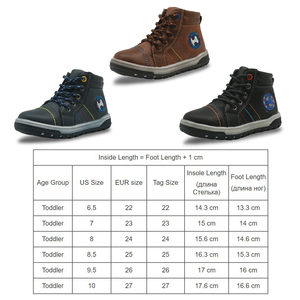 Image 3 - Apakowa # buy 2 obter 1 livre # criança meninos primavera outono gancho e laço botas de tornozelo curto crianças tênis de renda sapatos casuais