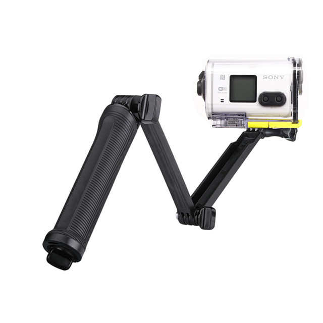 3 Way Waterproof Monopod Selfie Grip Tripod Mount For Sony Action Cam HDR-AS100V AS300R AS50 AS200V X3000R AEE Sport Camera