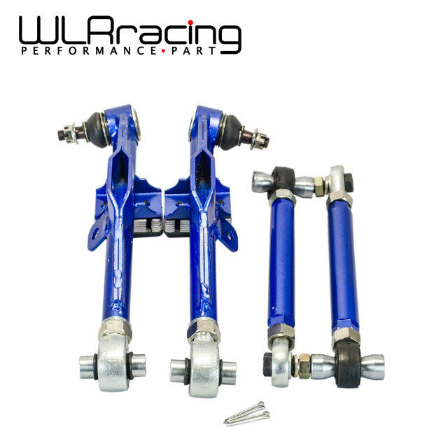 WLRING STORE- Racing S14 Adj. Front Lower Control Arm Blue Only (Pair) For Nissan WLR9832 front lower control arm 2pc