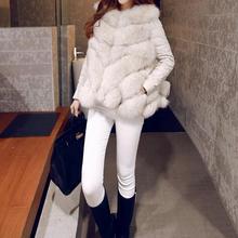 Женская теплая зимняя куртка из искусственного меха со съемным рукавом TSR12
