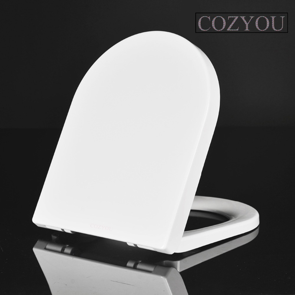 Vitreous China UF Toilet seat set soft Close White Elongated Double button Quick-Release Easy Clean Change Hinges GBF17253SU gbf17258sv urea formaldehyde material ultra thin high density toilet seat slow close v shaped installed above quick disassembly