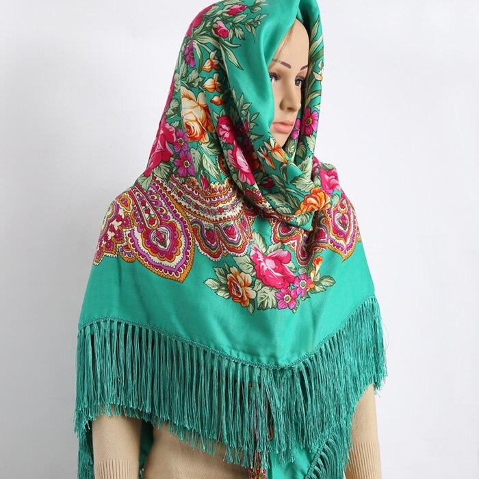 2017 new women   scarf   oversized square shawl long tassel Print flower   scarf   winter   wraps   Blanket shawl headband 155cmX155cm