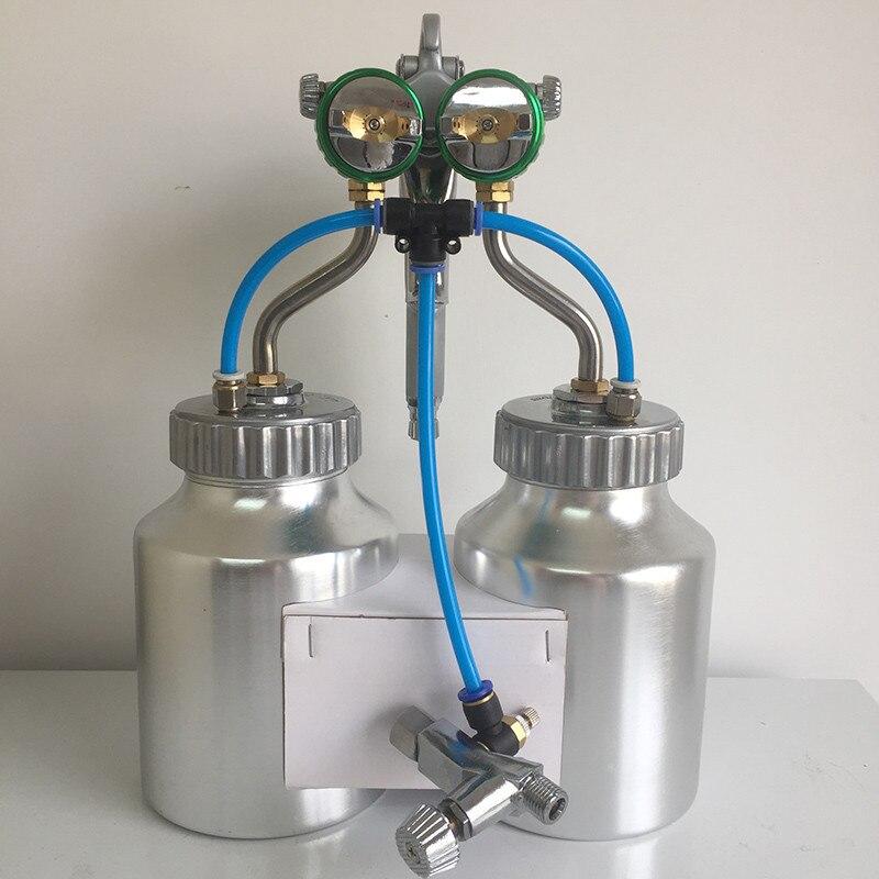 SAT1200 nagynyomású airbrush autófesték spray kettős fúvóka - Elektromos kéziszerszámok - Fénykép 6