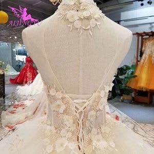 Image 4 - Aijingyu Eenvoudige Trouwjurk Toga In Ivoor Engagement Libanon Plain Simple Bridal Koop Een Gown Luxe Trouwjurken
