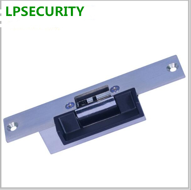 LPSECURITY Electric Door Strike with cover fail safe NC/ Fail Secure NO Mode Lock a Part For Access Control Wood Metal Door obo hands ansi standard heavy duty electric strike lock fail secure no mode for wooden metal pvc door