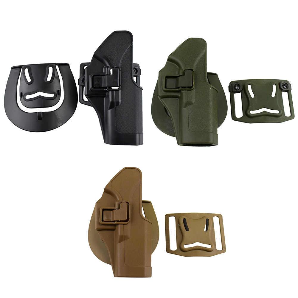 CQC Tactical Compact Handgun Belt Holster G19 Quick Draw Right Hand Gun  Holster w/ Paddle Waist Belt For GLock 17 21