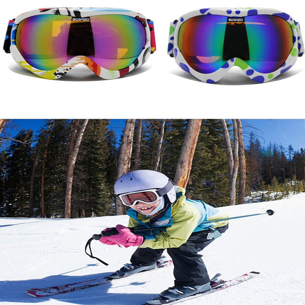 0e7f3cdc435b Colorful Youth Snow Ski Snowboard Goggles UV Protection Anti Fog Double Lens  A Sportswear Accessories Men Women Snow Equipment-in Skiing Eyewear from  Sports ...