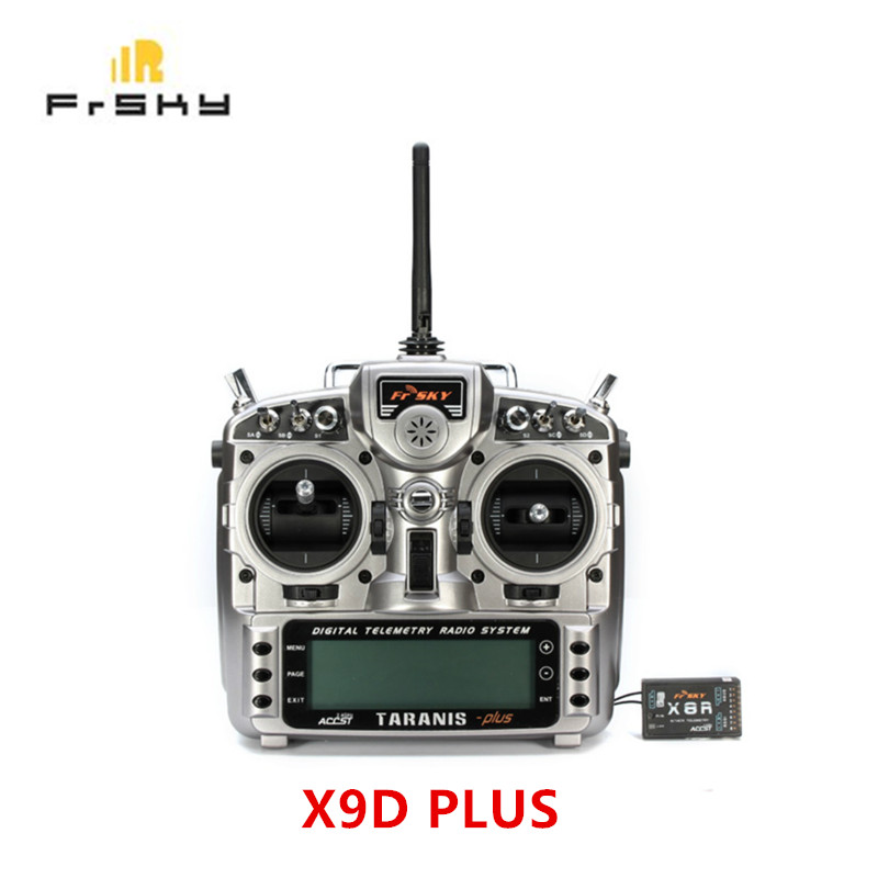 FrSky ACCST Taranis X9D PLUS 16CH 2.4GHz Transmitter with X8R free shipping frsky 2 4ghz accst taranis x9d plus digital telemetry transmitter radio system set receiver x8r neck strap adapter
