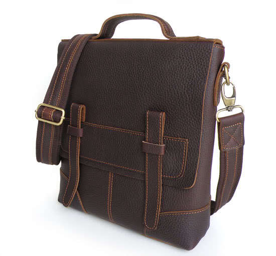 Vintage Bag Real Crazy Horse Genuine Leather Men Messenger Bags Cross Body Office Bag Cow Leather