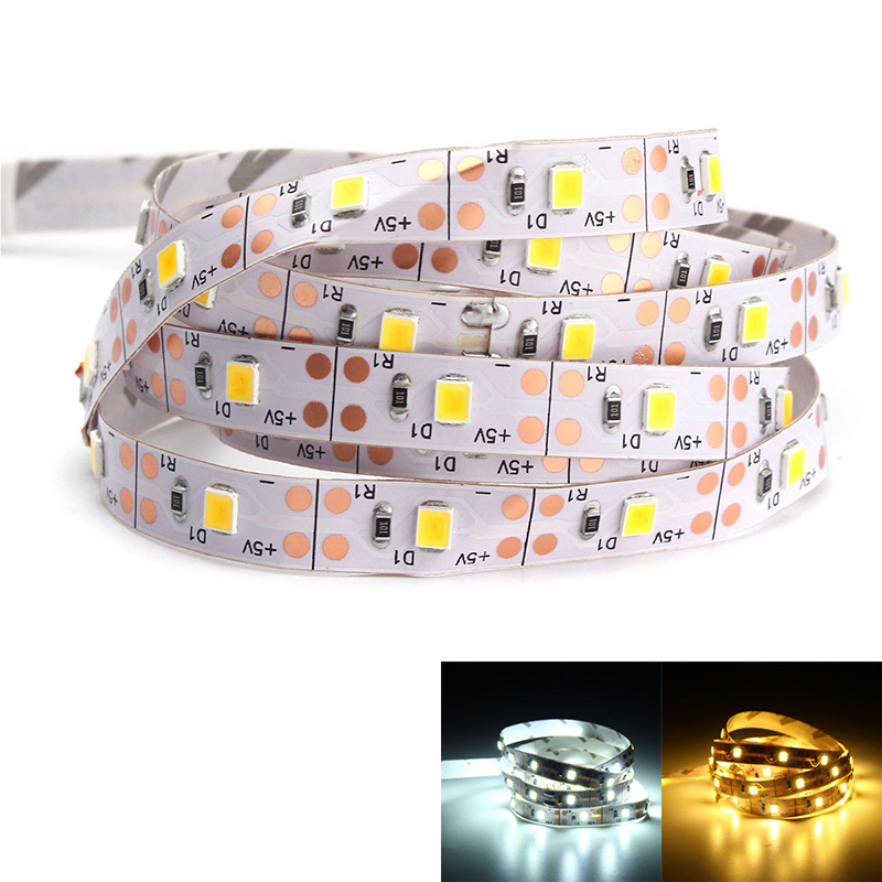 USB LED strip Light DC 5V/6V SMD 3528 LED Flexible Light TV Background Lighting Lamps Adhesive Tape 50CM 1M 2M 3M 4M 5M kinlams 5v 50cm 1m 2m 3m 4m 5m usb cable power led strip light smd2835 3528 christmas desk lamp tape for tv background lighting