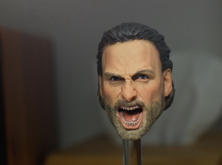 1/6 scale figure doll accessory The Walking Dead angry rick Head shape carved for 12 action figure doll Not included body die shi spot burning the soul of a model burns 1 6 head carved figures are base contains mask