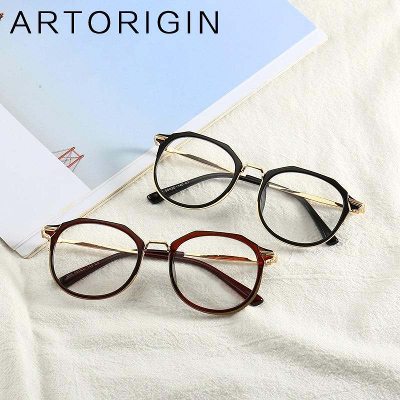 ARTORIGIN Fashion Glasses Frames For Women Inside Wrap PC Orange Pink Black Eyeglasses Frame lentes opticos mujer