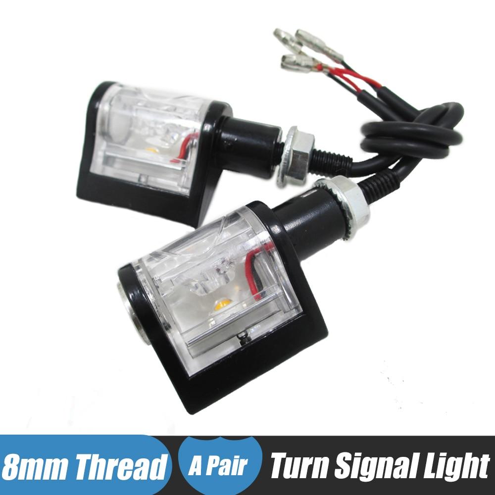 Universal 12v Motorcycle <font><b>LED</b></font> Turn Signals Indicators Amber Blinkers Motorbike Bike Flashers Lamp