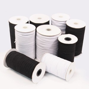 5M 3-50mm Flat Elastic Bands Black White Nylon Rubber Waist Band for Pregnant Baby DIY Sewing Garment Applique Bags Accessories