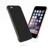 2017 ультра-тонкий металлический для iPhone 6 plus батарея чехол для iPhone 6 6 S Батарея случае Зарядное устройство банка для Iphone 6 Plus чехол с аккумулятором