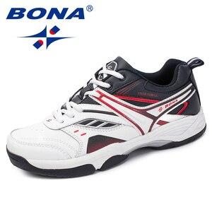 Image 4 - BONA החדש הגעה קלאסיקות סגנון גברים נעליים יומיומיות פיצול עור גברים חיצוני אופנה סניקרס נעליים נוח מהיר משלוח חינם