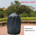 "BBQ Grill cover 24.5"",Dome smoker cover,Black color,BBQ grill protective cover,Free shipping"
