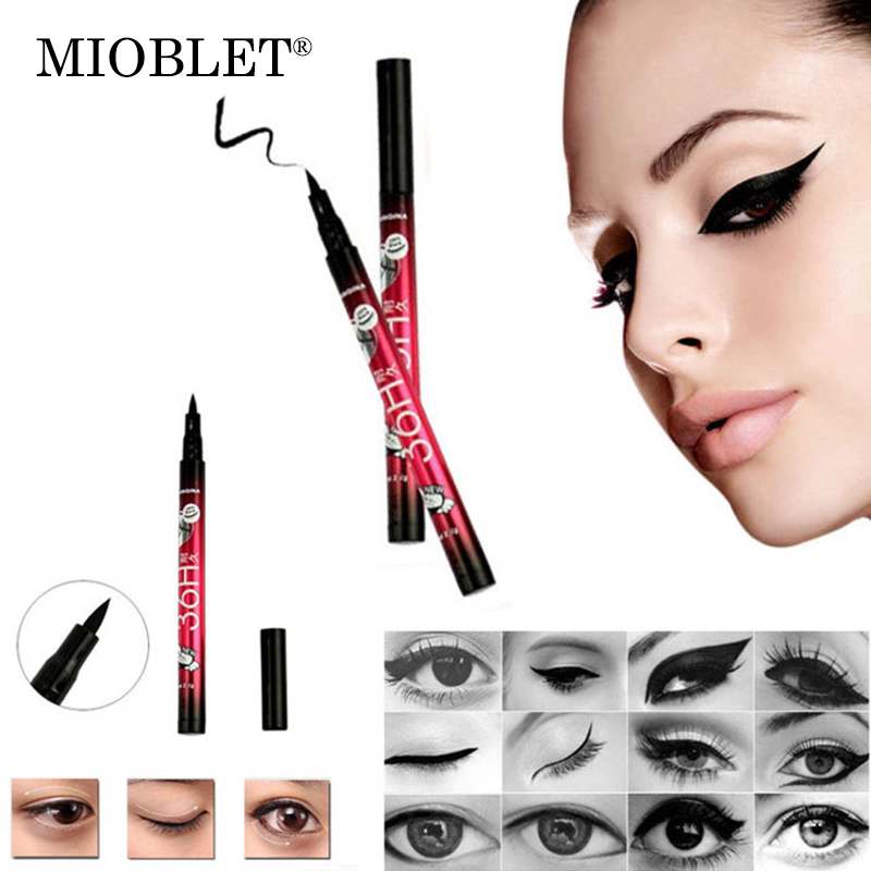 MIOBLET 2017 New Fashion Waterproof Liquid Eyeliner Pencil Pen Eye Liner Make Up Beauty Cosmetic Useful Tools For Eye For Ladies