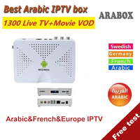 Vshare Arabic IPTV box support 1300+ Arabic Africa French Swedish Europe channels Android TV Box