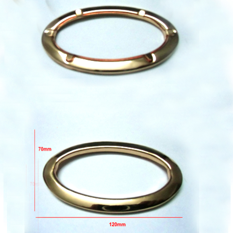 40 pieces 120 x  70 mm  Oval Metal Purse Eyelets purse handles минипечь gefest пгэ 120 пгэ 120