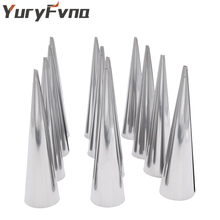 YuryFvna Set of 15 Cream Horn Mold Stainless Steel Conical Tube Cone Pastry Mould Roll Horn Mold Pastry Horn Mould Baking Tools