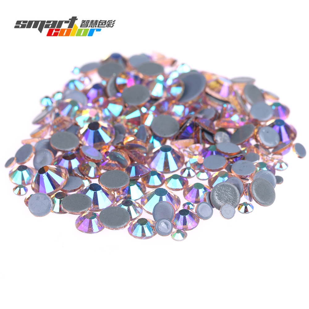 Champagne AB Hotfix Glass Rhinestones With Glue Backing Iron On Strass Diamond For Clothes Shoes Dresses DIY Accessories 15ml b7000 multipurpose adhesive diy tool jewelry rhinestones fix touch screen phone middle frame housing glass tube glue b 7000