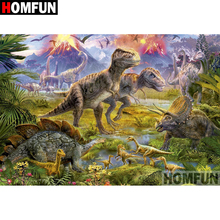 HOMFUN 5D DIY Diamond Painting Full Square/Round Drill Animal dinosaur 3D Embroidery Cross Stitch gift Home Decor A08238 защитное стекло luxcase для zte blade v9 vita