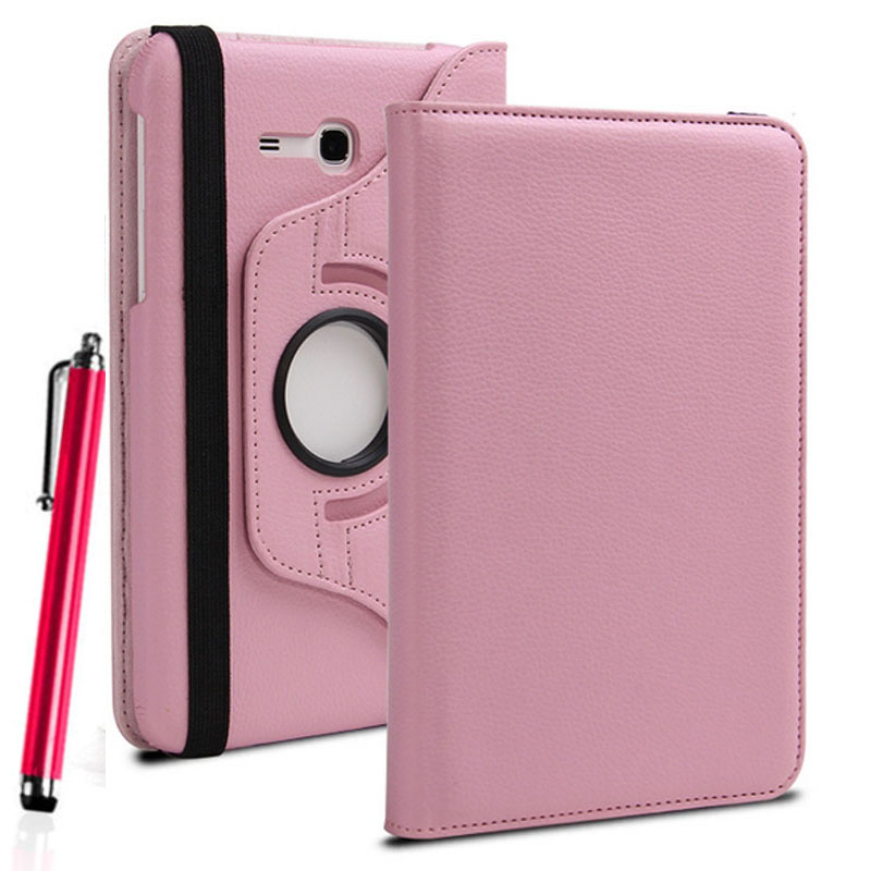 Eagwell 360 Degrees Rotate Classic PU Leather Cover Case For Samsung Galaxy Tab 3 Lite 7.0 SM-T110 T111 Flip Stand Shell Skin