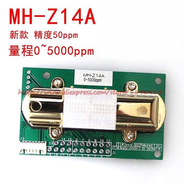 شحن مجاني MH Z14 الأشعة تحت الحمراء MH Z14A ثاني أكسيد الكربون الاستشعار وحدة التناظرية الناتج مراقبة البيئة 0 5000ppm