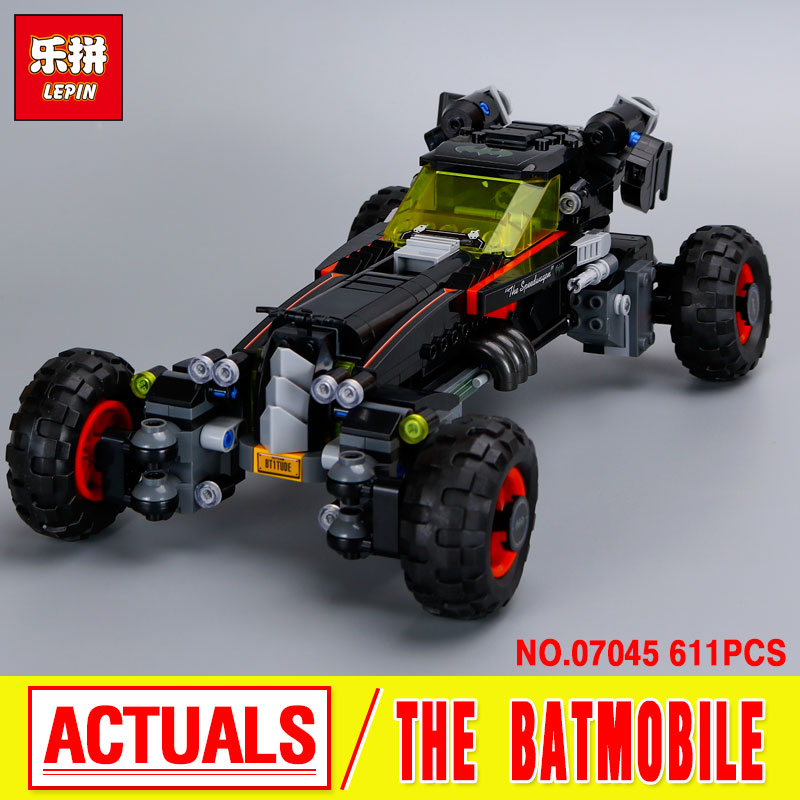 New 611Pcs Lepin 07045 Genuine Superhero Movie Series The Batman Robbin`s Mobile Set Building Blocks Bricks Toys 70905 Gift gonlei new 610pcs 10634 batman movie the batmobile building blocks set diy bricks toys gift for children compatible lepin 70905