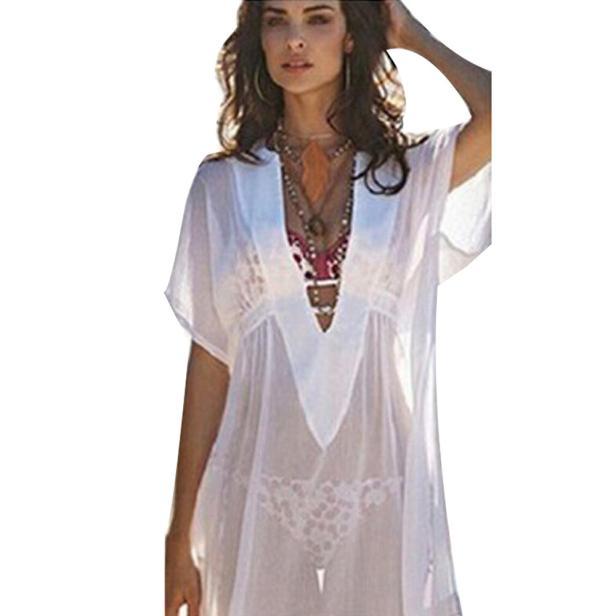 Hot!2017 New Fashion Tops Coat Womens Amazing Women Chiffon Cover Up Beach Shirt Bathing Suit Wonderful Drop Shipping Y8023