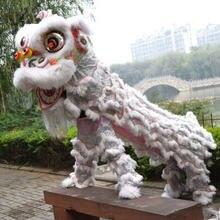 Белый китайский костюм льва Танцевальный Костюм Льва танцевальные